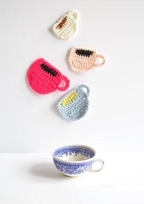 DIY Appliqué Tasse au crochet