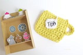 DIY Appliqué Mug au crochet