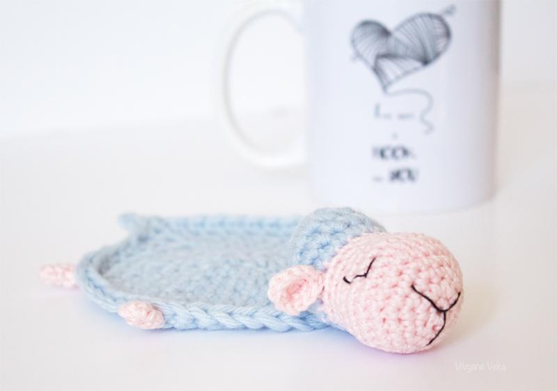 DIY Sous-Tasse Mouton au Crochet