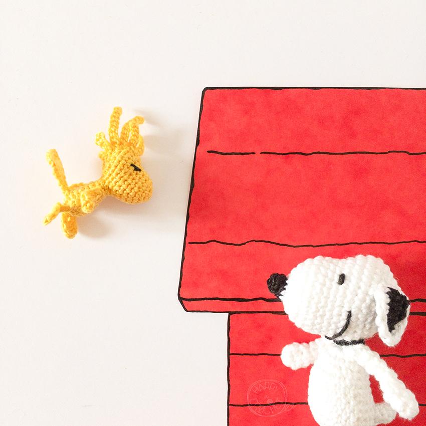 Amigurumi Woodstock et Snoopy Crochet
