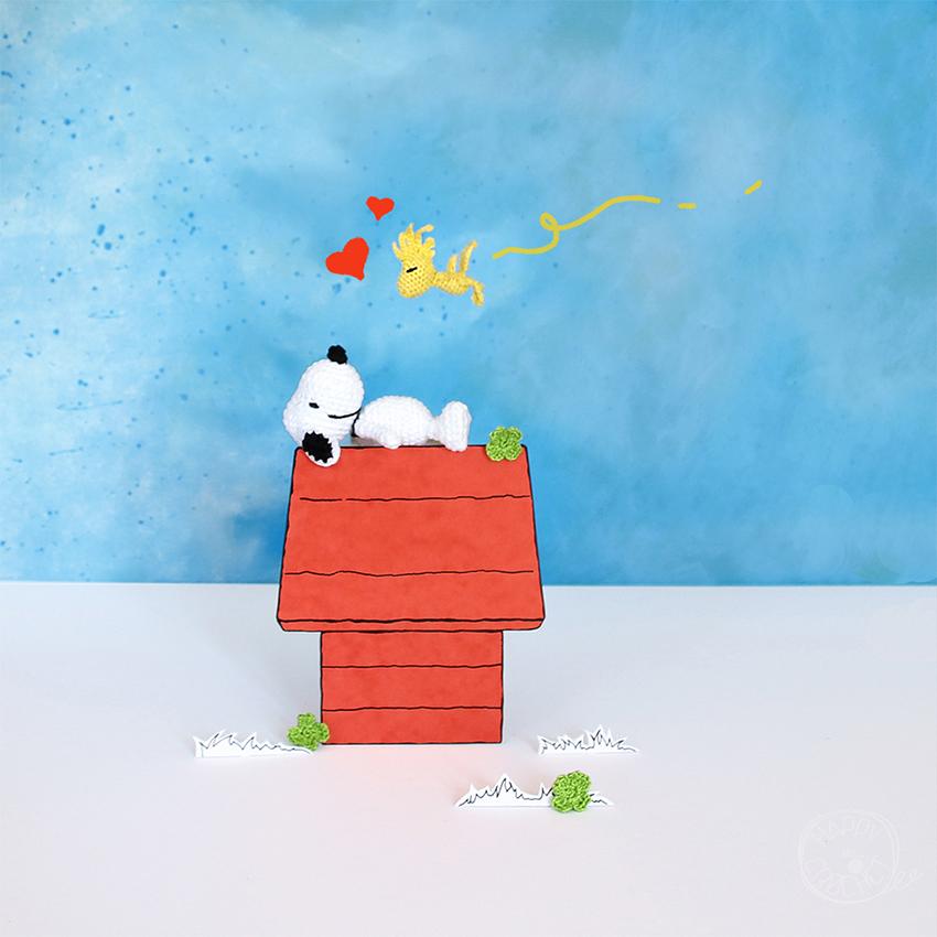 Snoopy et Woodstock au Crochet