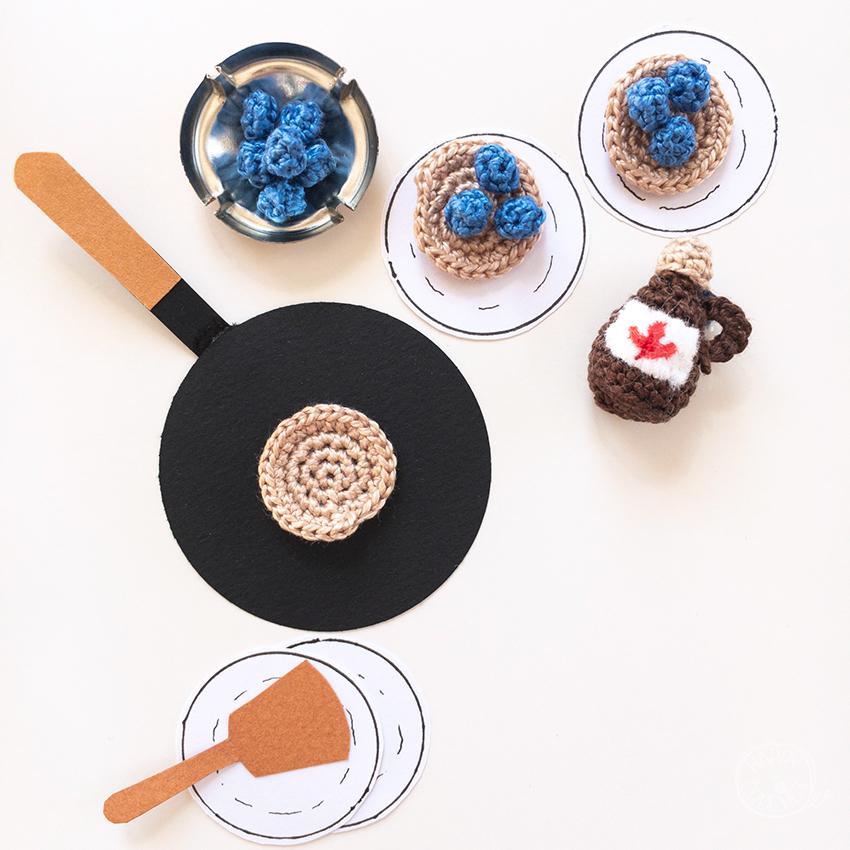 Tutoriel pancake aux myrtilles au crochet