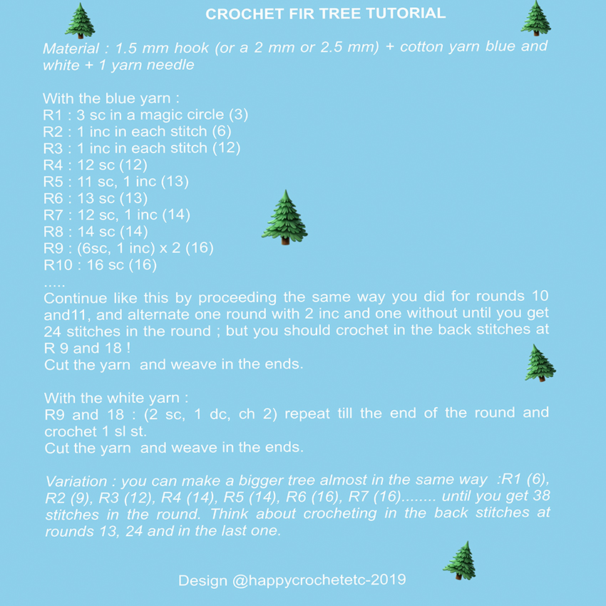 Crochet Fir Tree Tutorial