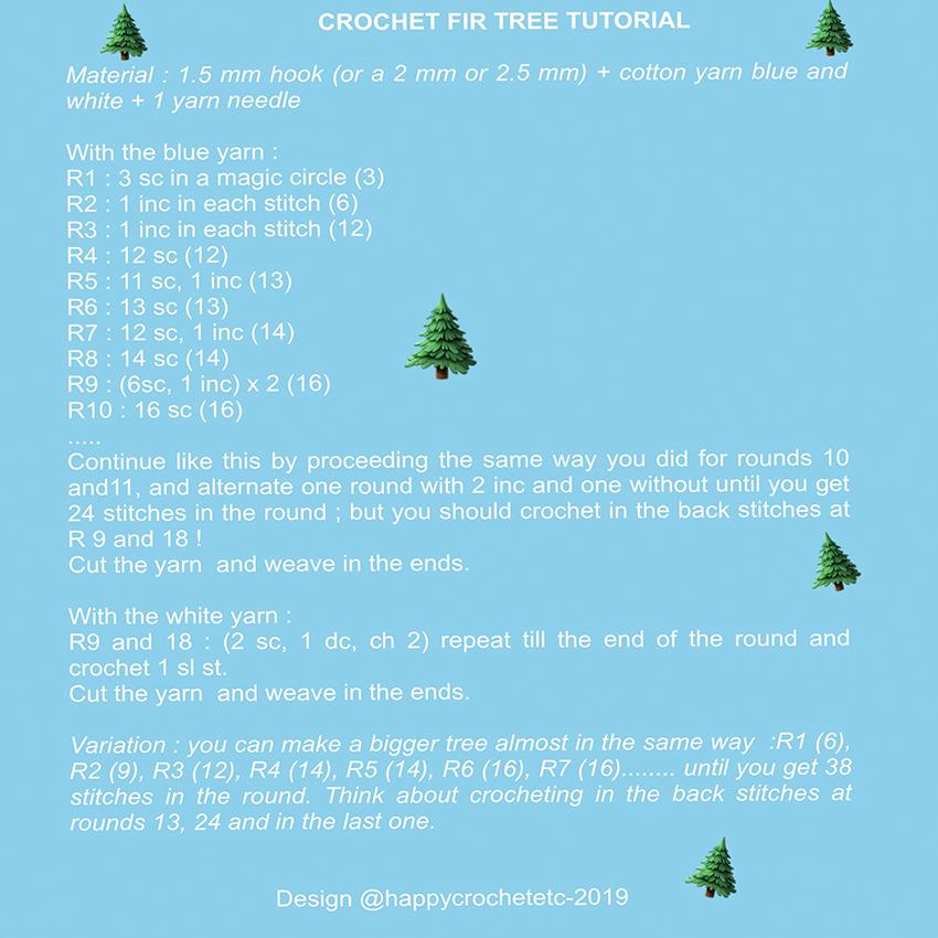 Crochet Fir Tree Tutorial