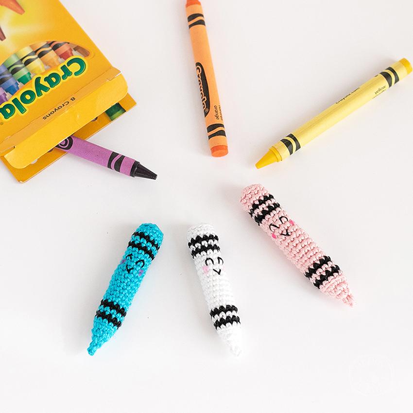 Tutoriel Crayons Amigurumi au Crochet