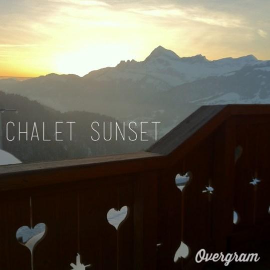 sunset couehce de soleil montagne chalet