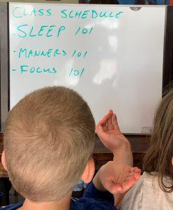 You've got to teach em everything!