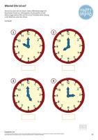 Kinder Malvorlagen Uhrzeit   INDONE.ME
