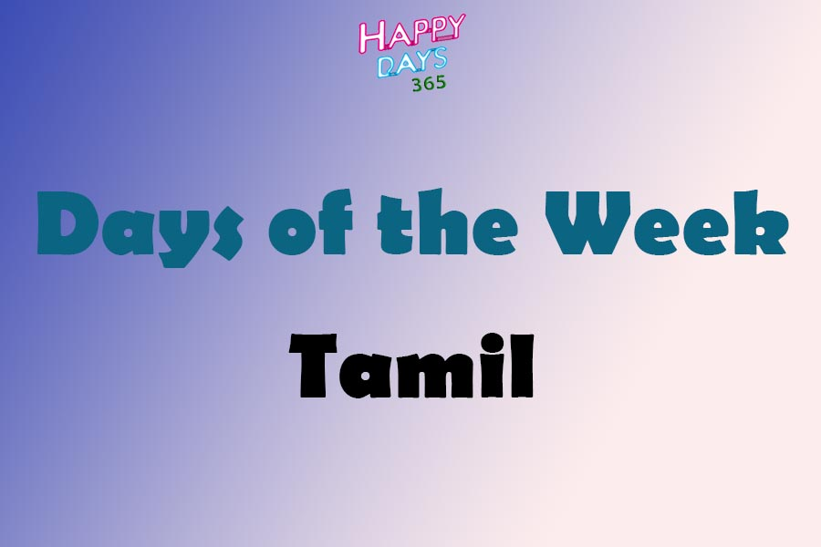 Days of the Week in Tamil Language