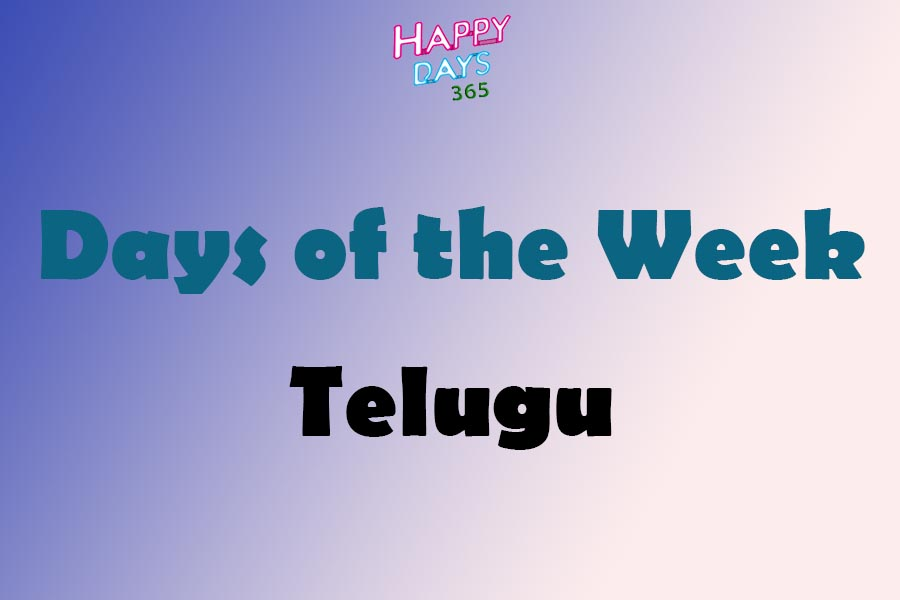 Days of the Week in Telugu