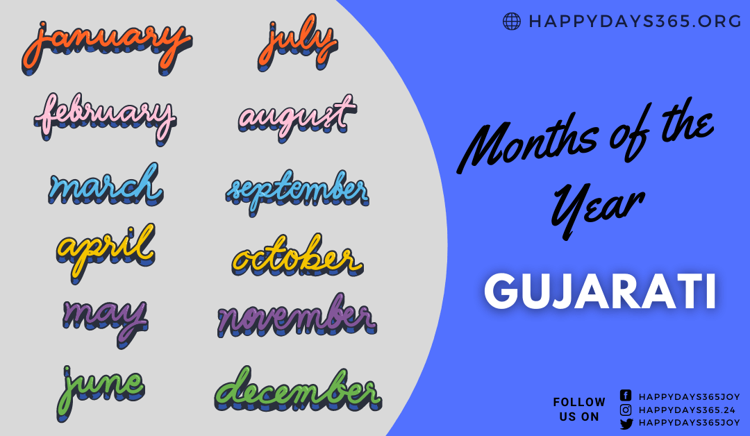Months of the Year in Gujarati