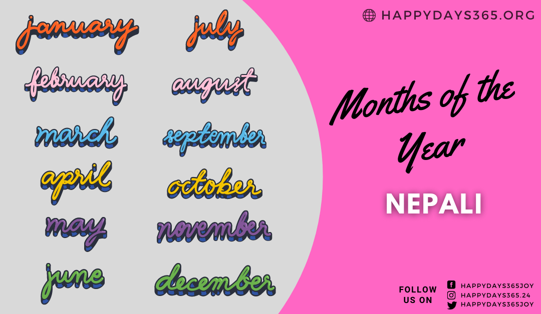 Months of the Year in Nepali