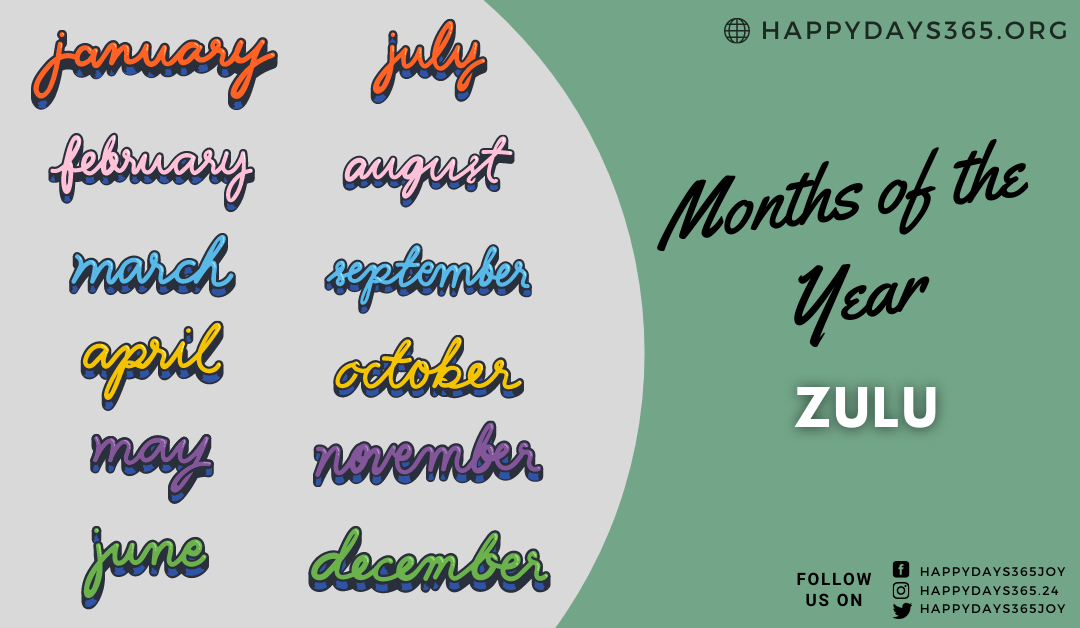 Months of the Year in Zulu