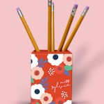 Big Flowers Pencil Holder