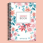 Coral Lilies Money Book