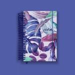 Purple Leaves Pocket Planner 2022