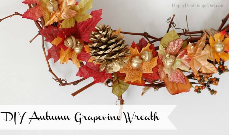 DIY autumn grapevine wreaths horizontal