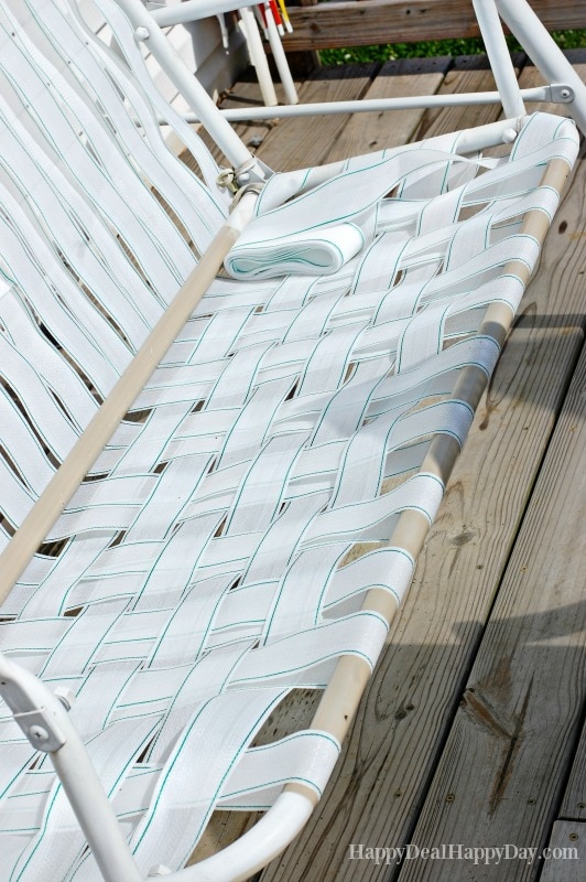 How To Fix Broken Canvas On A Porch Swing  Happy Deal