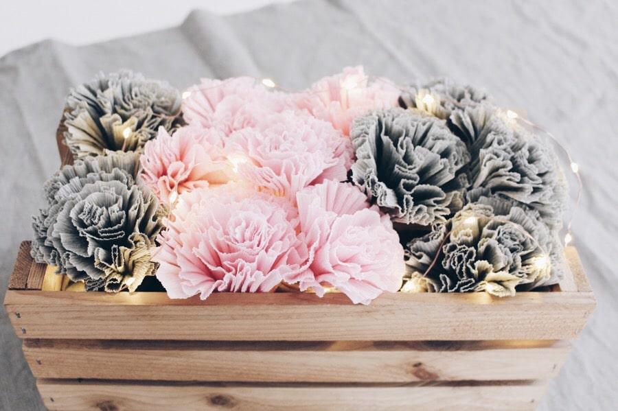 Blumen Aus Krepppapier Selber Basteln fantasievolle