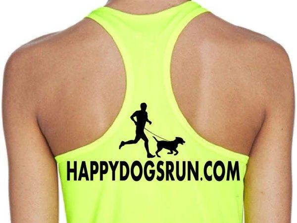 Happy Dogs Run Women's Razerback Tank back