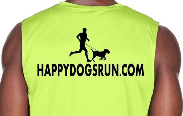 Happy Dogs Run Men's Tank back