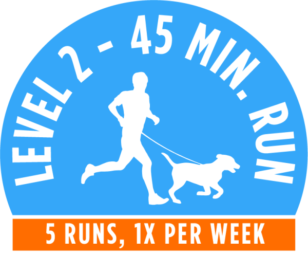 Level 2 - 45 minute running package - 5 Runs, 1x per week