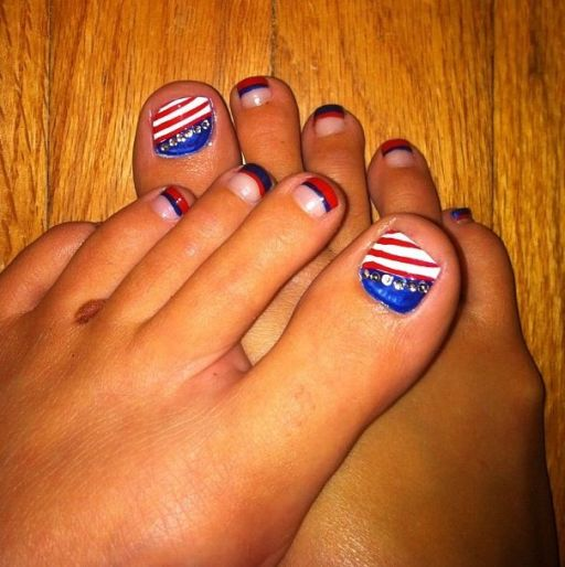 4th of July toe nail images