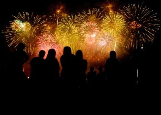 Beautiful July 4th Fireworks in Gatlinburg Tennessee