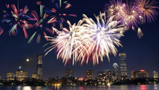 Boston 4th of July fireworks, Massachusetts Images