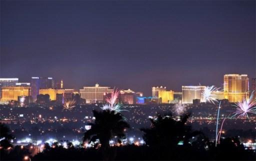 Fireworks 4th of July in Las Vegas
