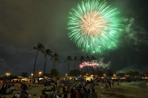 Honolulu Hawaii 4th of July fireworks
