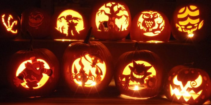 Happy Halloween pumpkin carving templates