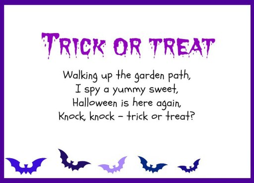 Trick or Treat Poem