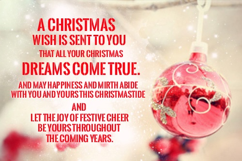 Beautiful  Wishes For Christmas