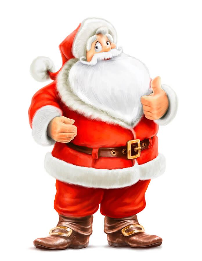 Laughing Santa Claus
