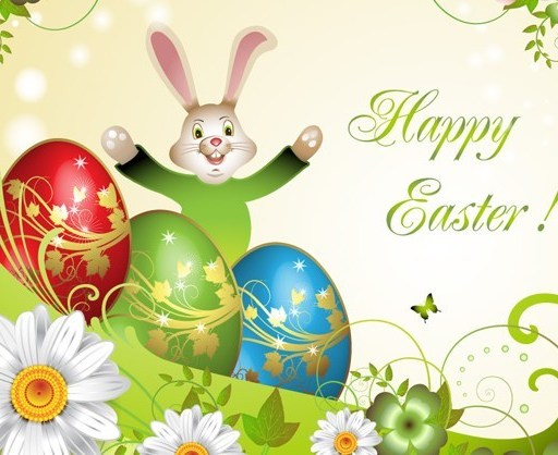 Candy Happy Easter Card Cover Vector Design