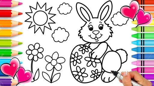Easter Bunny Coloring Pages 2021