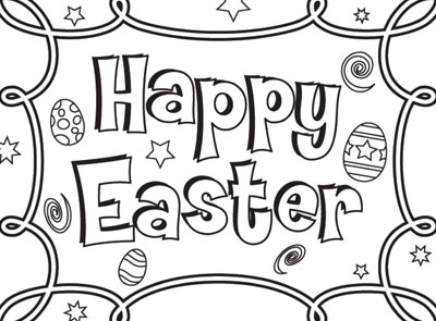 Easter Happy Coloring Pages