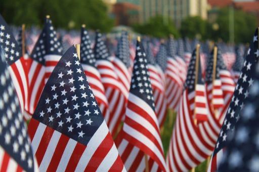 USA Memorial Day Flags