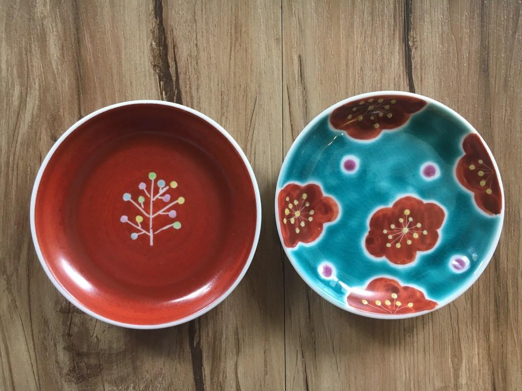 九谷焼の豆皿(九谷茶碗まつりの戦利品)