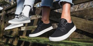 YY Nation shoes are made from bamboo, algae, pineapple and sugarcane