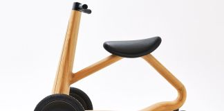 This chic, wooden electric scooter is carved from chestnut