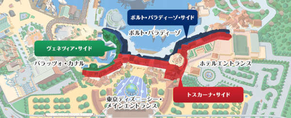 ホテルミラコスタ ゾーン地図