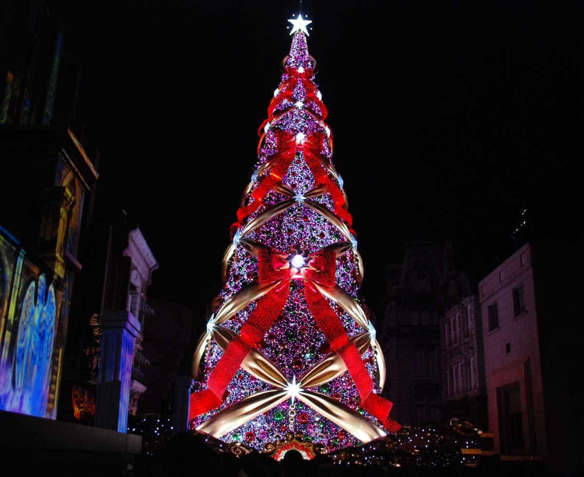 クリスマスツリー2016年夜