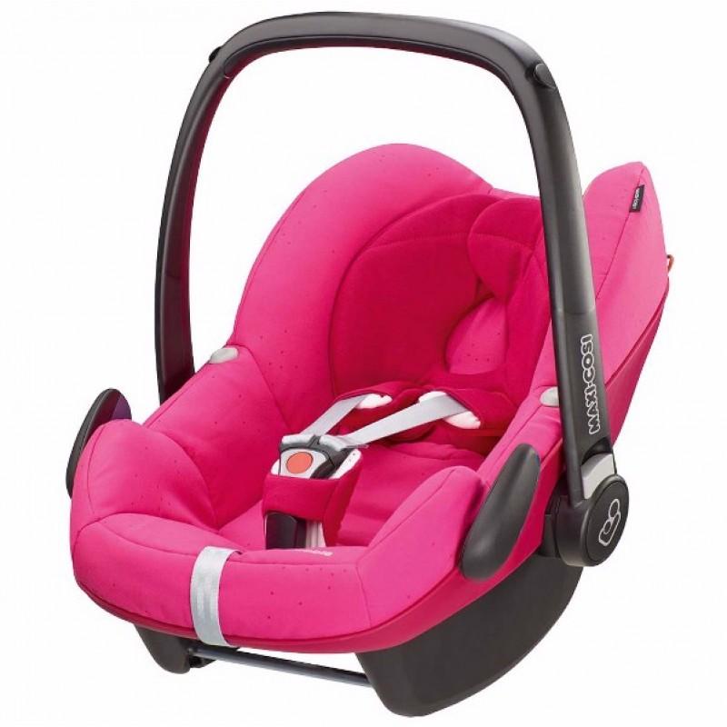 Silla de carro para beb  Pebble rosa fresa