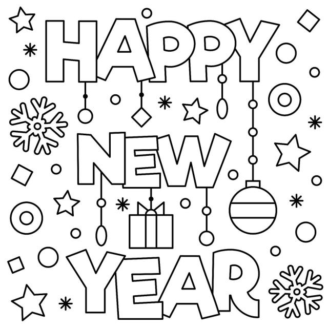 New Year Coloring Pages 28 Free Printable Coloring Sheets Download