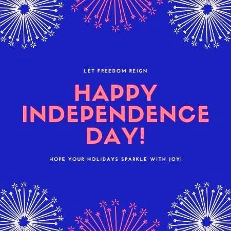 4th of July Greetings Cards 2020