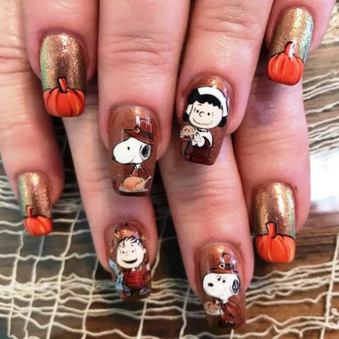 Thanksgiving Nails 2020 Hilarious Ideas And Tips