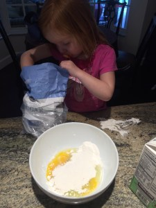 Cooking with a Toddler: Waffles by Happy Family Blog