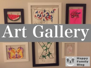 DIY Art Gallery by Happy Family Blog